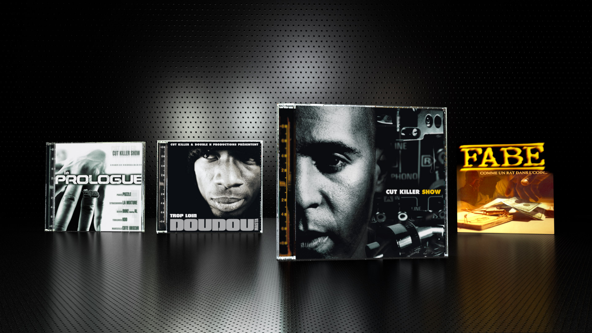 Album design of Cut Killer Show 1 and 2, Single for Masta Doudou, Fabe...Main Photos by Armen Djerrahian.