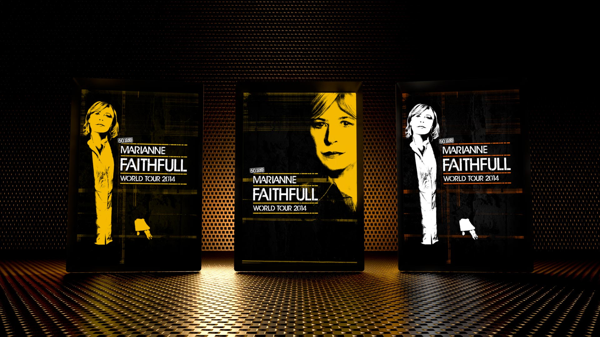 Design of Marianne Faithfull's World Tour 2014, 50 years anniversary.