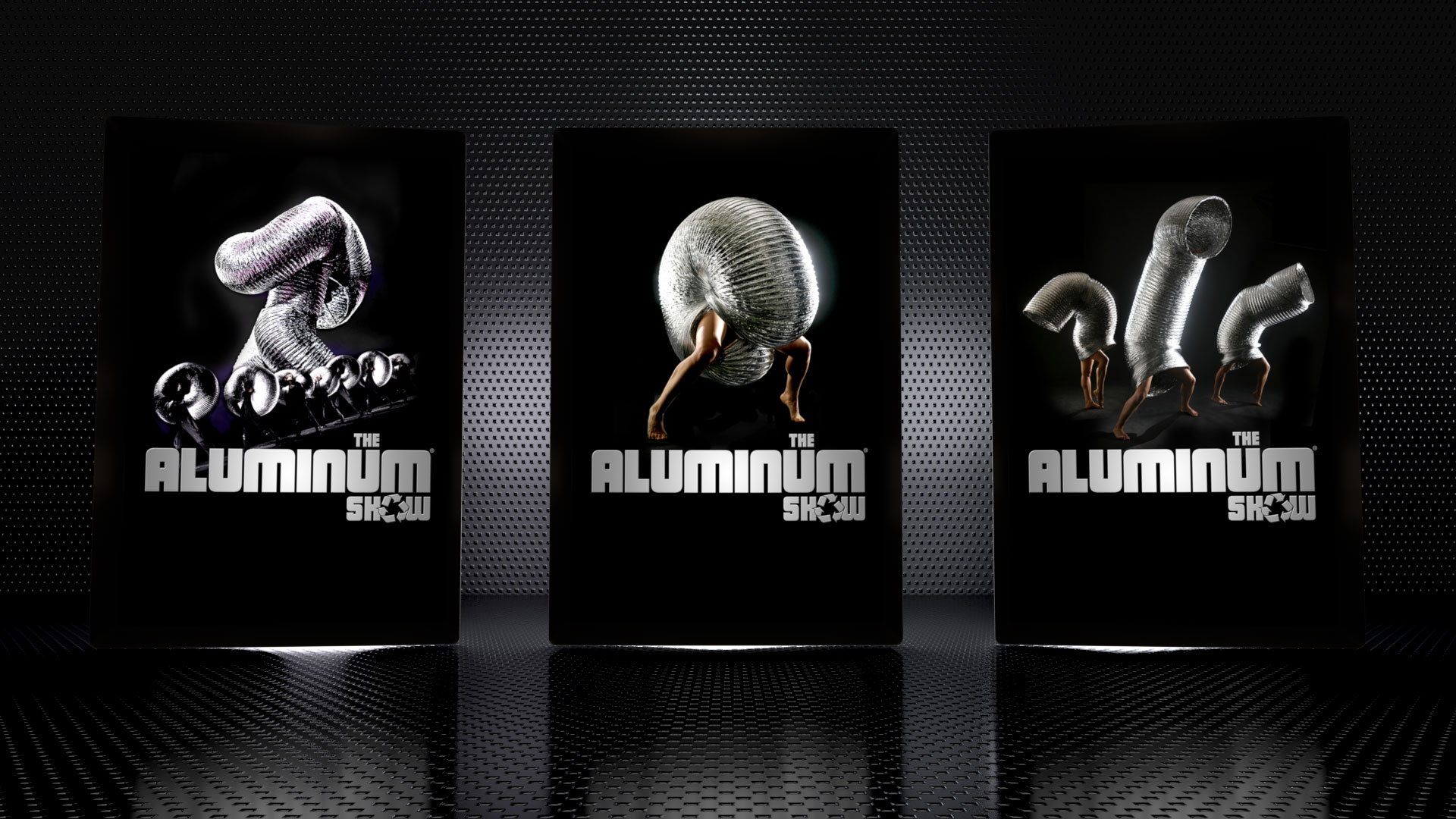 Design of the key visual and logotype of the Aluminum Show. Worldwide use.